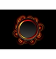 Abstract bright swirl shapes and black circle vector image