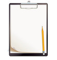 black clipboard with blank sheets of paper vector image