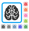 brain framed icon vector image