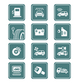 Car service icons - TEAL series vector image