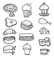 Doodle of food object hand draw vector image