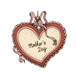 Frame with text for Mothers day vector image