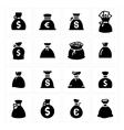 Money bags vector image