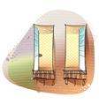 Window Balcony Background vector image
