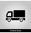 Truck Icon on grey background vector image