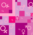 seamless background with female symbols vector image