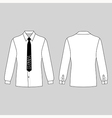 mans shirt tie outlined template vector image vector image