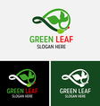 leaf plant logo leaves infinity symbol vector image
