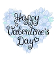 valentines day vintage lettering background vector image vector image