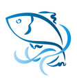 fish silhouette abstract vector image vector image