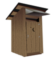 Outhouse vector image