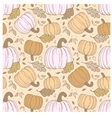 Hallowen hand-drawn seamless pattern vector image vector image