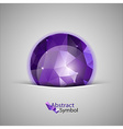 triangles ball purple vector image