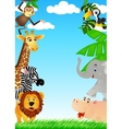 animals cartoon vector image vector image