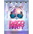 Disco background Disco party poster vector image