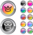 Crown multicolor round button vector image