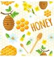 Honey Background Pattern vector image