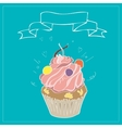 with the image of cakes and ribbons vector image