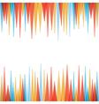 abstract sharp zig-zag border style background vector image
