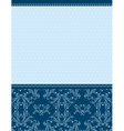 blue background with decorative ornaments vector image