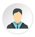 businessman icon circle vector image