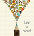 Education icons back to school pencil vector image