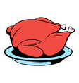 roast turkey icon cartoon vector image
