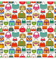 seamless pattern with different women bags vector image