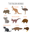 set of Australian animals icons vector image