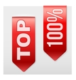 Set of Popular Ribbons TOP Realistic modern style vector image