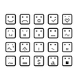 smiling faces vector image