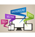 Technology Screens Background vector image