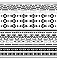 Tribal ethinc ztec seamless pattern vector image