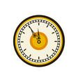 vintage clock time round design vector image