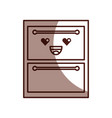 wooden drawer kawaii character vector image