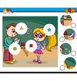 cartoon activity for children vector image