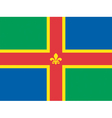Flag of Lincolnshire vector image vector image