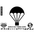 Parachute Flat Icon With 2017 Bonus Trend vector image