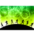 black silhouettes of runners vector image vector image