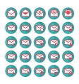 Green mail icons vector image vector image