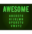 Green Neon Casino or Broadway Signs style light vector image