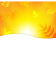 Autumn Background With Beams And Leaves vector image