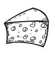 cheese vector image