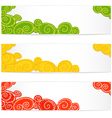 Colorful flying balloons set vector image