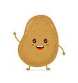 cute happy smiling funny potato vector image
