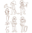 Fire fighters vector image