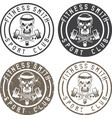 fitness skull with hammers vintage labels set vector image