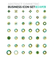 Flower star shaped business icons vector image