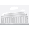 Lincoln Memorial Center Washington DC vector image