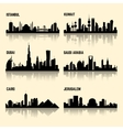 Middle East cities set vector image